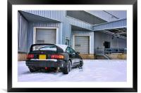 Celica GT-FOUR inthe Snow, Framed Mounted Print