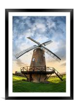Wilton Windmill, Framed Mounted Print