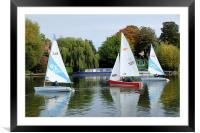 Sailing on the river Thames, Framed Mounted Print