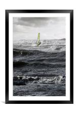 windsurfer, Framed Mounted Print