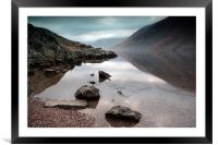 Wast Water reflection, Framed Mounted Print