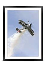 Bucker Jungmeister at Abingdon airshow, Framed Mounted Print