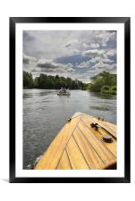Steam Boat, Framed Mounted Print
