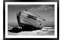 Dungeness Boat Past its Prime, Framed Mounted Print