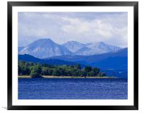 Loch Rannoch and Distant Mountains, Framed Mounted Print