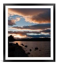 As The Sun Sets Over Loch Rannoch, Framed Mounted Print