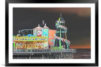 Funky Fair At The End Of The Pier, Framed Mounted Print