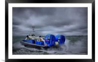Southsea To Isle Of Wight Hovercraft, Framed Mounted Print