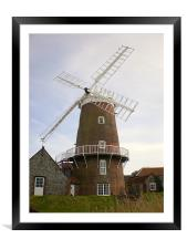 windmill, Framed Mounted Print