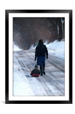 Weary road home, Framed Mounted Print