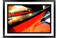racing colours, Framed Mounted Print