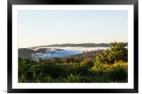Dawn over Northern Panama, Framed Mounted Print