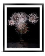 Fireworks at Plymouth, Framed Mounted Print