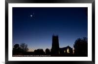 Broadclyst Church, Framed Mounted Print