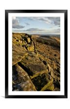 Stanage Edge, Framed Mounted Print