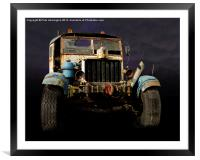 Comma truck, Framed Mounted Print
