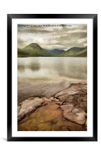 Artistic view of Wastwater in Lake District, Framed Mounted Print