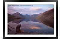 Twilight at Wastwater in Cumbria, Framed Mounted Print