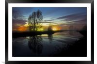 Exeter Canal at twlight, Framed Mounted Print