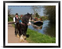 Horse and Barge, Framed Mounted Print