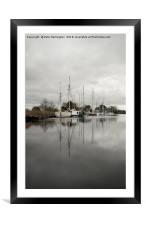 Exeter Canal, Framed Mounted Print