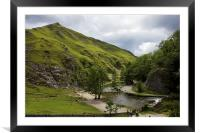 Dovedale Stepping Stones., Framed Mounted Print
