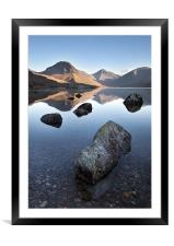 Wasdale Head From Wastwater, Framed Mounted Print