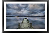 Jetty on Lake Windermere, Framed Mounted Print