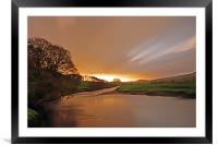 A Golden Morning In Wensleydale, Framed Mounted Print