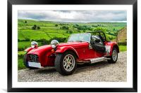 Classic Red Sports Car., Framed Mounted Print