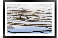 Isolation Of A Yorkshire Dales Winter, Framed Mounted Print