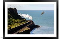 Parton sea wall, Framed Mounted Print