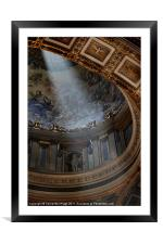 The Light in St Peter's, Framed Mounted Print