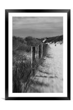 To the beach, Framed Mounted Print