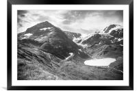 The Alps #5, Framed Mounted Print