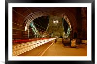 Tower Bridge Light Trails, Framed Mounted Print