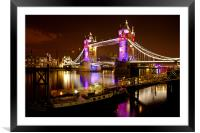 Tower Bridge - New Clothes, Framed Mounted Print
