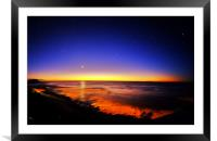 The Sun, The Moon and The Stars, Framed Mounted Print