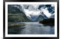 Milford Sound, Framed Mounted Print