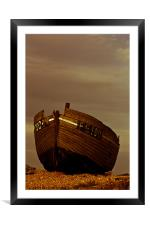 An Old Wrecked Fishing Boat 4, Framed Mounted Print