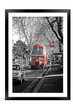 London RT Red Bus, Framed Mounted Print
