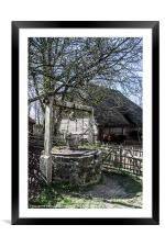 Water Well and Farmyard, Framed Mounted Print