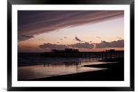 Hastings Pier - Purple Sunset, Framed Mounted Print