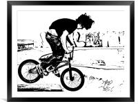 BMX Abstract 1, Framed Mounted Print