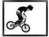 BMX Abstract 2, Framed Mounted Print