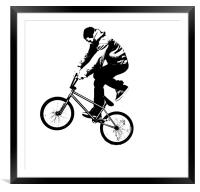 BMX Abstract 3, Framed Mounted Print