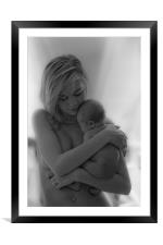 Mother and Child, Framed Mounted Print