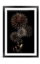 Fireworks at Airbourne, Eastbourne, Framed Mounted Print