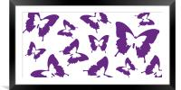 Butterfly Parade Purple, Framed Mounted Print