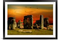Stonehenge Fantasy, Framed Mounted Print